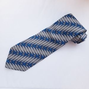 Valentino Silk Geometric Necktie Made in Italy
